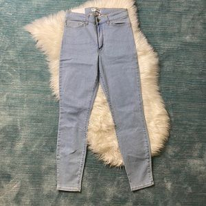 NEW American Apparel Blue High Rise Skinny Jeans